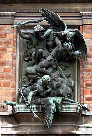 Jules Coutan - The Eagle Hunters for the facade of the Museum d'Histoire naturelle, Paris