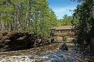 Amnicon Falls State Park - Amnicon Falls State Park's signature covered bridge