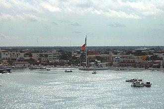 San Miguel de Cozumel - Aerial view of San Miguel de Cozumel