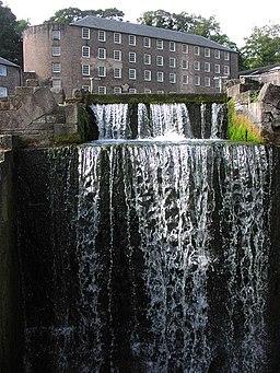 Cromford Mill Weir - geograph.org.uk - 1285670