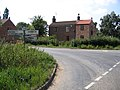 Crossroads with finger post, Quadring High Fen, Lincs - geograph.org.uk - 217006.jpg