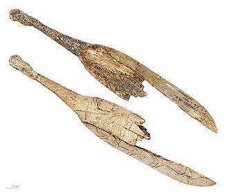 Spoon - Spoon engraved in reindeer antler, Magdalenian MHNT