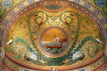 Mosaïque du cul-de-four de l'abside de la basi...
