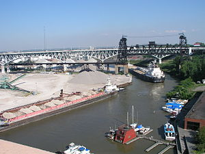 Industrial Valley - The east bank of the Flats on the Cuyahoga River, looking southeast.