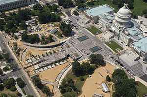 United States Capitol Visitor Center - Aerial view