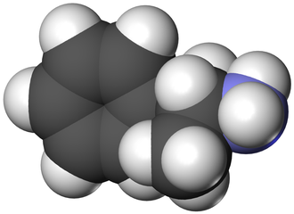 Substituted amphetamine - Image: D amphetamine 3D vd W