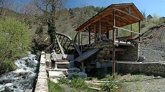 Smolikas - A water powered saw mill at Armata.