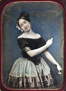 Retrato al daguerrotipo de una bailarina española de la escuela ...