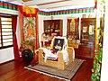 Dalai Lama seat, Tibetan Centre in Auroville.jpg