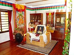 Auroville - Dalai Lama's seat, Tibetan Centre, Auroville