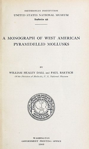 "William Healey Dall - Title page of ""A Monograph of West American Pyramidellid Mollusks"" (1909)"