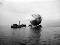 Dampfboot mit Fesselballon über Bielersee - CH-BAR - 3238482.tif
