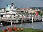 Dampfschiff Stadt Rapperswil - Bürkliplatz 2013-07-25 19-21-46 (P7700).JPG