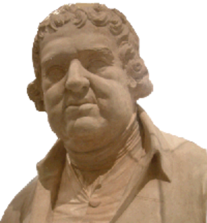 Erasmus Darwin - Stone-cast bust of Erasmus Darwin, by W. J. Coffee, c. 1795