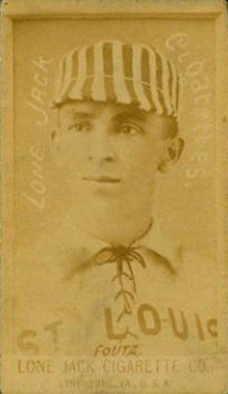 Dave Foutz - A rare Dave Foutz, Lone Jack Cigarette Company baseball card from 1886 or 1887.