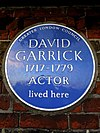 David Garrick 1717-1779 Actor lived here.jpg