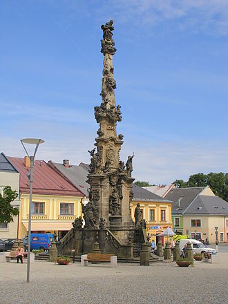 Polička - Marian column in Polička