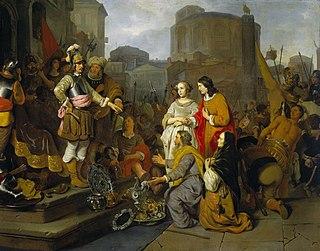 <i>The Continence of Scipio</i> (Gerbrand van den Eeckhout) painting by Gerbrand van den Eeckhout