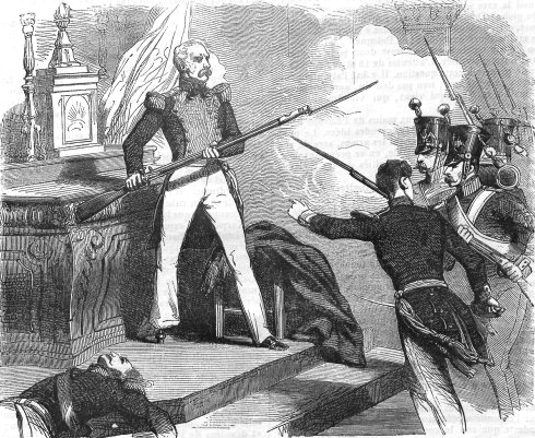Death of General Józef Sowiński during Russian assault on Warsaw in 1831