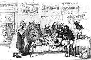 Locofocos - Cartoon celebrating 1840 defeat of Locofocoism