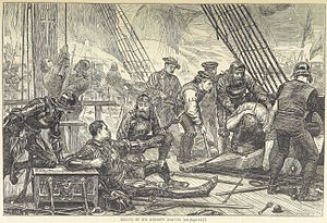 Andrew Barton (privateer) - An 1873 illustration of Barton's death