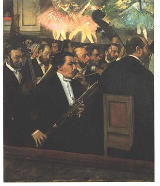 Kinetic art - Edgar Degas, L'Orchestre de L'Opera (1868)
