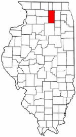 DeKalb County's location in Illinois