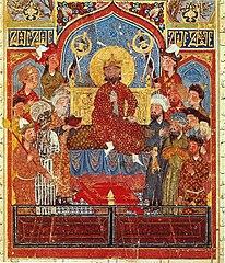 Iskandar enthroned