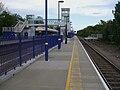 Denham station westbound platform look east.JPG