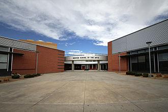 Denver School of the Arts - DSA rotunda (on east side of building)