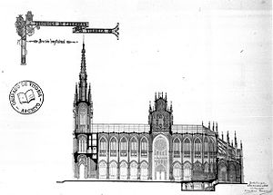 Cathedral of María Inmaculada of Vitoria - First design of the Cathedral