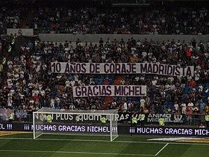 Míchel Salgado - Real Madrid fans show their appreciation of Salgado's ten years service to the club.