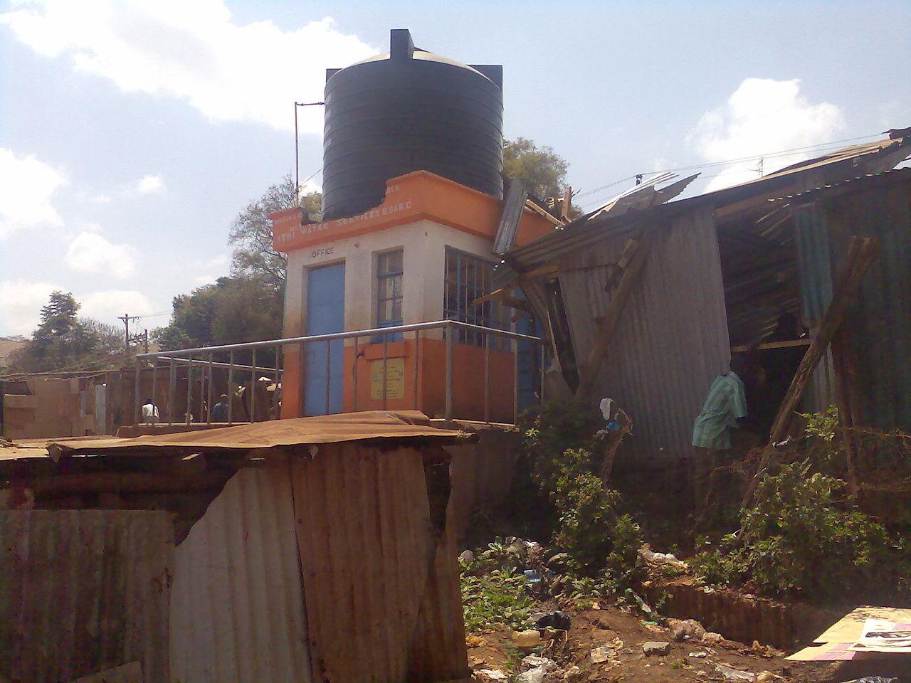 Water Tank Destruction : File destroyed public toilet after slum destruction water