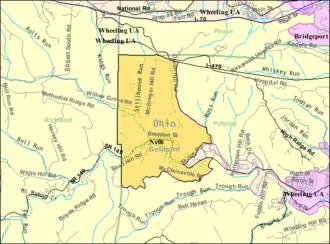Neffs, Ohio - Image: Detailed map of Neffs, Ohio