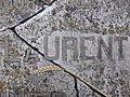 Detalle de la lápida de la tumba del fotógrafo Juan Laurent (1816-1886), Madrid.JPG