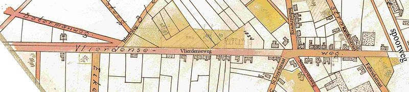 Bestand:Deurne 1950 vlierdenseweg eerste gedeelte.jpg