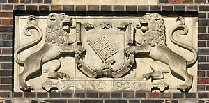 Rathscafé (Bremen) - Coat of arms at the market gable