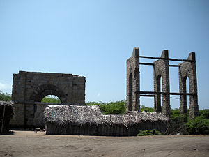 Dhanushkodi - Remains of Dhanushkodi railway station