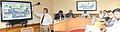 Dharmendra Pradhan along with the senior officials at the presentation on Gas Hydrates by the Research Scientist, United States Geological Survey, Dr. T.S. Collett, in New Delhi on July 31, 2015.jpg