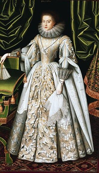 Henry de Vere, 18th Earl of Oxford - Lady Diana Cecil in 1614, portrait by William Larkin.