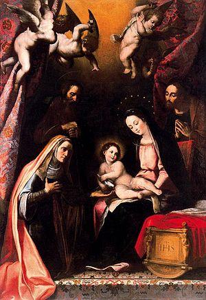 Diego Valentín Díaz - Holy Family, ca. 1650, now in the Museo Nacional de Escultura in Valladolid