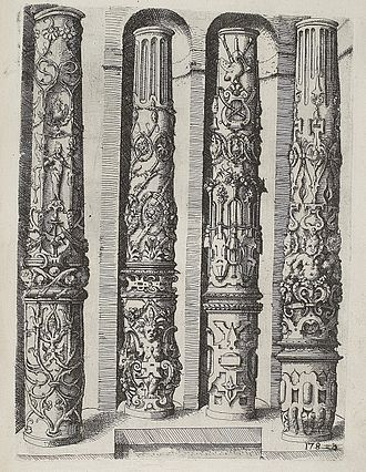 Ornament (art) - Northern Mannerist architectural pattern book by Wendel Dietterlin, 1598