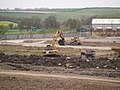 Digger on site. - geograph.org.uk - 493275.jpg