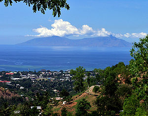 Dili - Dili with Atauro Island in background