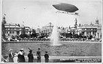 "Dirigible balloon ""Alaska Yukon Pacific Exposition in flight over the Court of Honor, Alaska Yukon Pacific Exposition, Seattle (AYP 565).jpg"