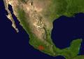 Distribution.Brachypelma.auratum.Mexico.png