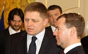 Robert Fico - Fico with Russian President Dmitry Medvedev, 7 April 2010