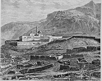 Doğubayazıt - Mosque and ruined quarter.