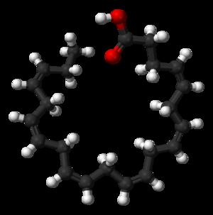 Docosahexaenoic acid - Image: Docosahexaenoic acid 3D balls