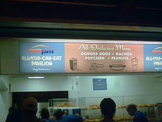 Dodger Stadium - The new all-you-can-eat buffet in the right-field pavilion